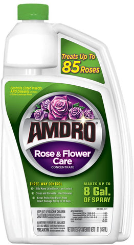 Amdro Rose and Flower Care Concentrate, 32-Ounce