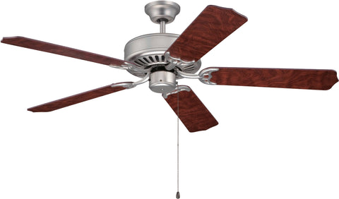 Craftmade C52BN Downrod/Flush Mount, 5 Rosewood Blades Ceiling fan, Brushed Satin Nickel