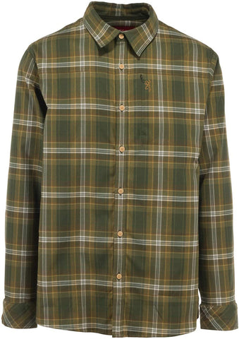 Browning Beacon Men's Flannel Shirt | High-performing stretch flannel shirt for Men, Medium, Rifle Green Plaid