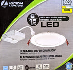 Lithonia Lighting Wafer 6 in. White Integrated LED Recessed Kit