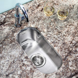 Houzer CS-1105-C Club Bar sink with accessory combo pack, Stainless steel