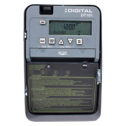 20 Amp 24-Hour SPST 1-Circuit Digital Time Switch with Indoor Enclosure