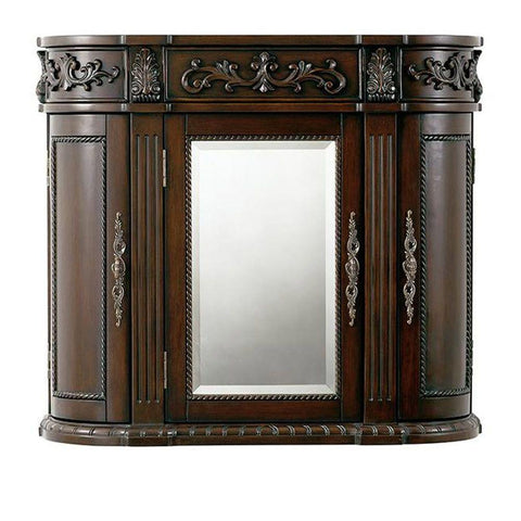Chelsea 31-1/2 in. W Bathroom Storage Wall Cabinet with Mirror in Antique Cherry