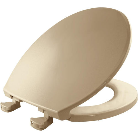 BEMIS Lift-Off Round Closed Front Toilet Seat in Biscuit