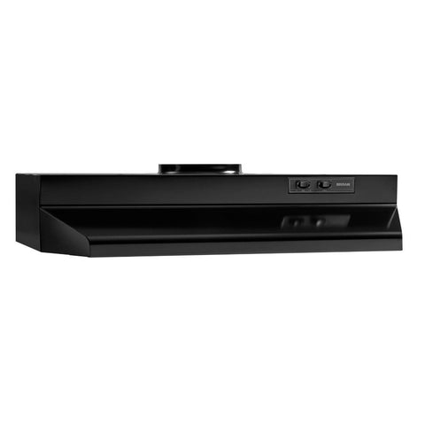 42000 Series 36 in. Under Cabinet Range Hood with Light in in Black