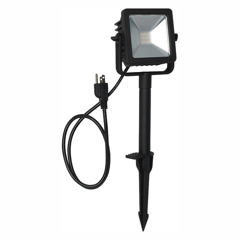 Line Voltage Black Outdoor Integrated LED Landscape Flood Light (NEW)