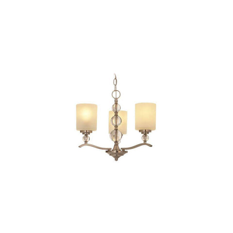 Hampton Bay 19706-000 Laurel Hill 3-Light Brushed Nickel Chandelier