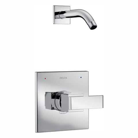 Wall Mount Shower Faucet Trim Kit in Chrome