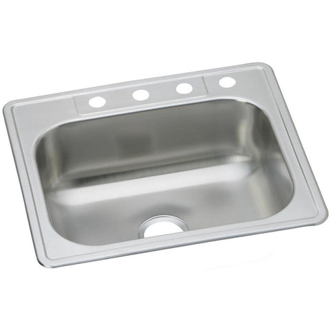 Dayton Drop-in Stainless Steel 25 in. 1-Hole Single Bowl Kitchen Sink