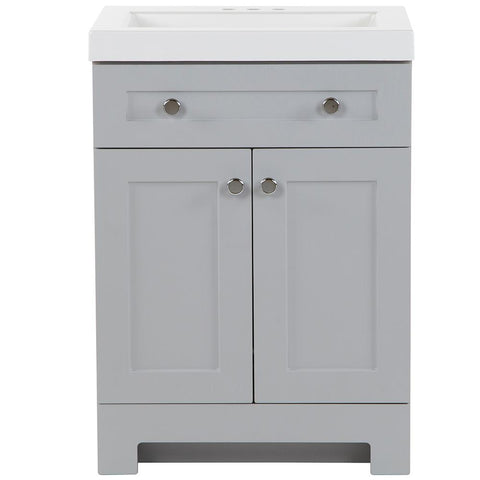 Everdean 24.5 in. W x 19 in. D x 34 in. H Vanity in Pearl Gray with Cultured Marble Vanity Top