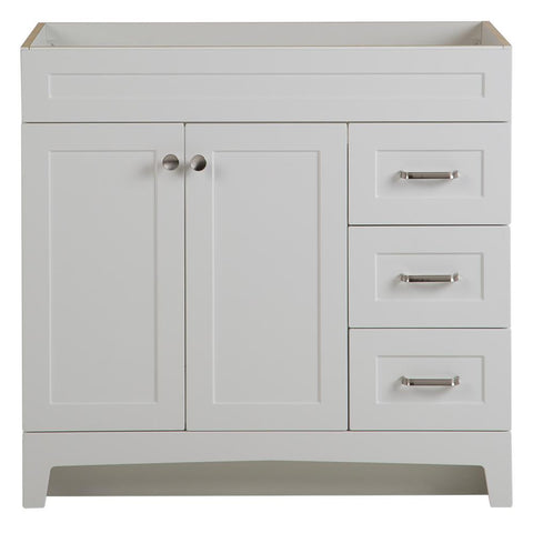 Thornbriar 36 in. W x 21 in. D Bathroom Vanity Polar White (Cabinet Only)