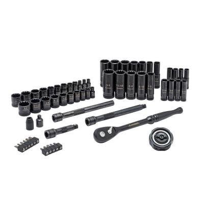 Husky 60 Piece 1/4in and 3/8in Drive Universal Mechanics Tool Set - Launchpad Liquidation