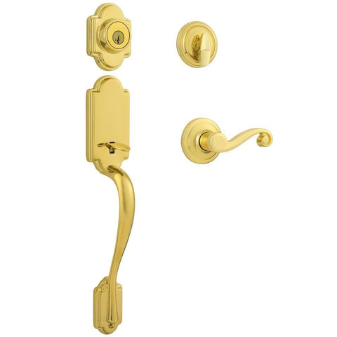Kwikset Arlington Single Cylinder Handleset with Lido Lever Featuring SmartKey Security