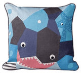 Launchpad Liquidation Baby Product Oceanography Nursery Works Organic Throw Pillow