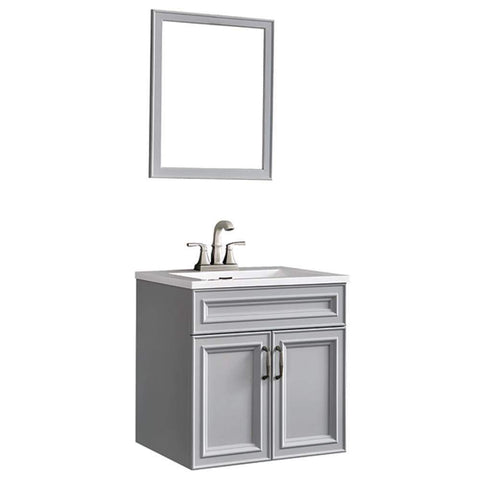 Launchpad Liquidation Colette 24 in. W x 19 in. D Floating Vanity