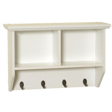 Launchpad Liquidation Collette 23 in. W Wall Cubby Shelf in White
