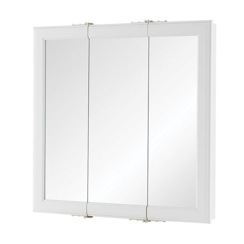 Launchpad Liquidation Fog Free Framed Surface-Mount Tri-View Bathroom Medicine Cabinet