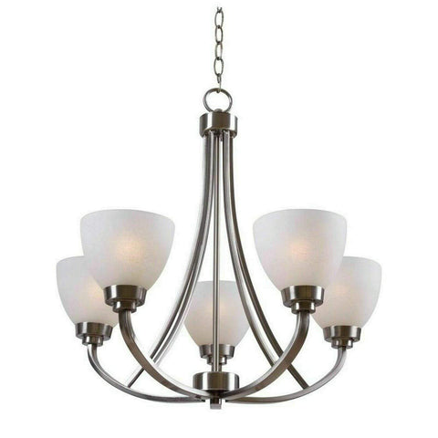 Launchpad Liquidation Hampton Bay Hastings 5-Light Brushed Nickel Chandelier