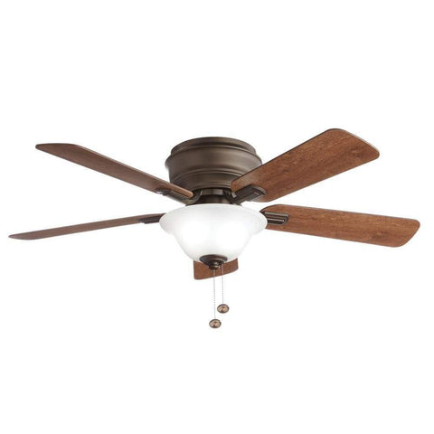 Launchpad Liquidation Hampton Bay Hawkins 44 in. LED Oil Rubbed Bronze Ceiling Fan with Light
