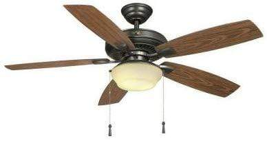 Launchpad Liquidation Hampton Bay YG188-NI Gazebo 52 in. LED Natural Iron Ceiling Fan with Light Kit