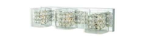 Launchpad Liquidation Home Decorators Collection Crystal Cube 3-Light Polished Chrome Vanity Light
