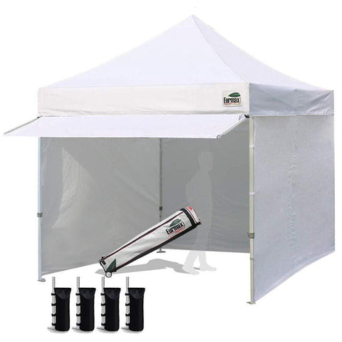 Launchpad Liquidation Lawn & Patio Eurmax 10 x 10 Pop up Canopy Commercial Tent Outdoor Party Canopies with 4 Removable Zippered Sidewalls and Roller Bag