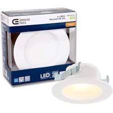 Launchpad Liquidation Lighting Commercial Electric 4 in White LED Recessed trim