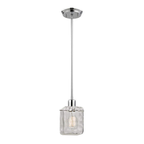Launchpad Liquidation Lighting Home Decorators Collection 1-light Polished Chrome Water Cube Glass Pendant