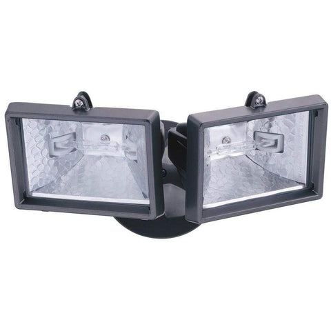 Launchpad Liquidation Lithonia Lighting Twin Head Floodlight Black