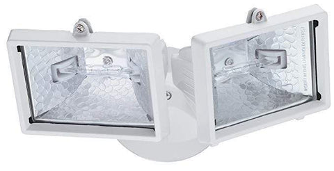 Launchpad Liquidation Lithonia Lighting Twin Head Floodlight Light White