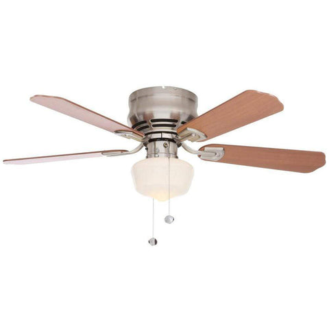 Launchpad Liquidation Middleton 42 in. LED Indoor Brushed Nickel Ceiling Fan with Light Kit
