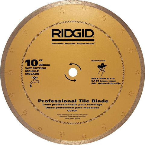 Launchpad Liquidation RIDGID 10 in. Premium Tile Diamond Blade