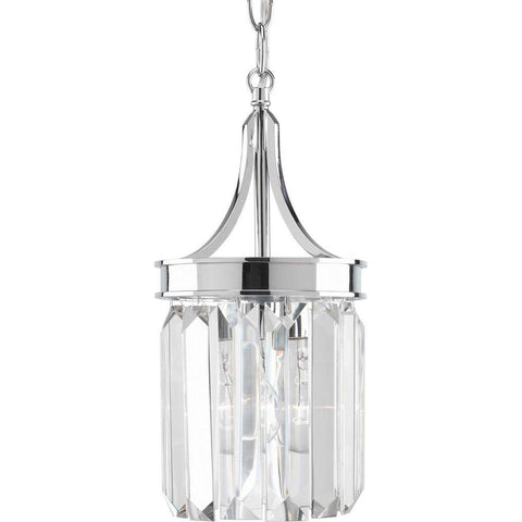 Glimmer Collection 6 in. 1-Light Polished Chrome Kitchen Island Mini-Pendant