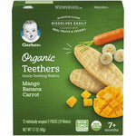 Lot Of 5 Gerber Organic Gentle Teething Wafers, Mangos, Bananas, Carrots, 1.7 Oz
