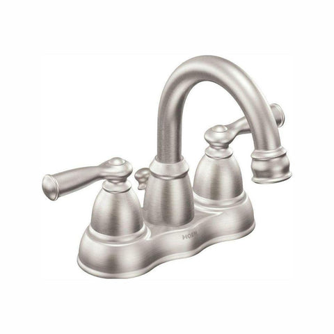 Banbury 4 in. Centerset 2-Handle Bathroom Faucet in Spot Resist Brushed Nickel