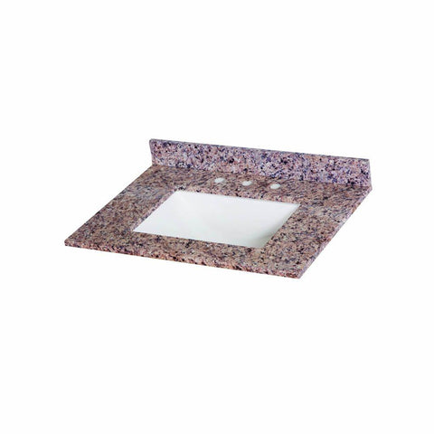 31 in. Stone Effects Vanity Top in Capri with White Sink