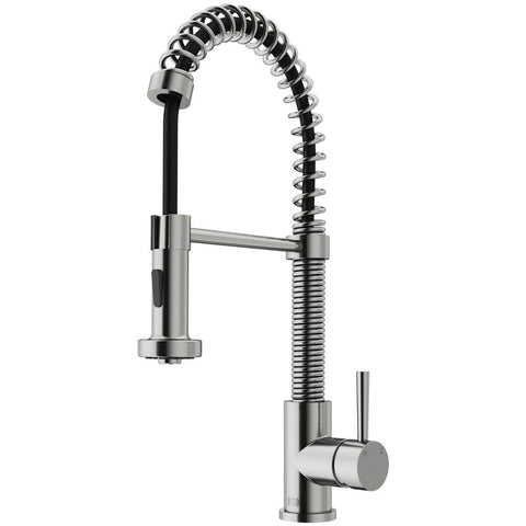 Edison Single-Handle Pull-Down Sprayer Kitchen Faucet in Stainless Steel