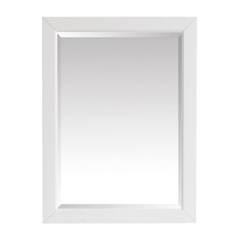 Windlowe 24 in. x 32 in. H Framed Mirror in White