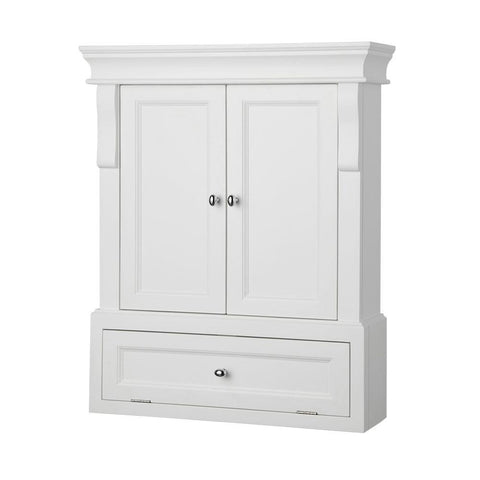 Naples 26-1/2 in. W x 32-3/4 in. H x 8 in. D Bathroom Storage Wall Cabinet in White