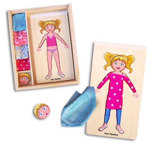DIY Dress-Up Girl with Fabric
