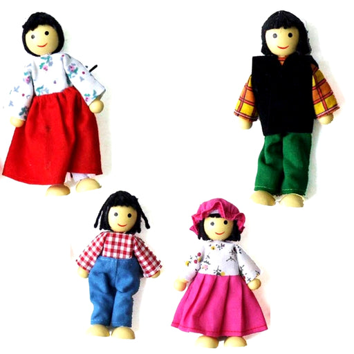 Doll Family - Asian / 4 pcs