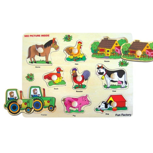 Puzzle with Knobs - Farm with Tractor