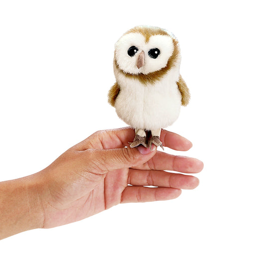 Mini Barn Owl White Finger Puppet