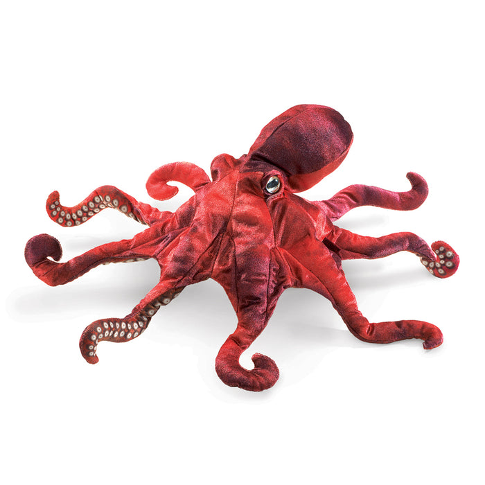 Red Octopus Puppet