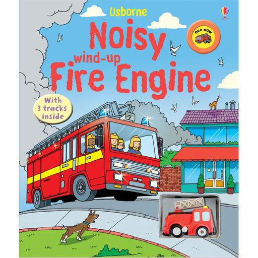 usborne wind up fire engine with sound book cover