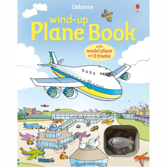 usborne wind up plane book cover