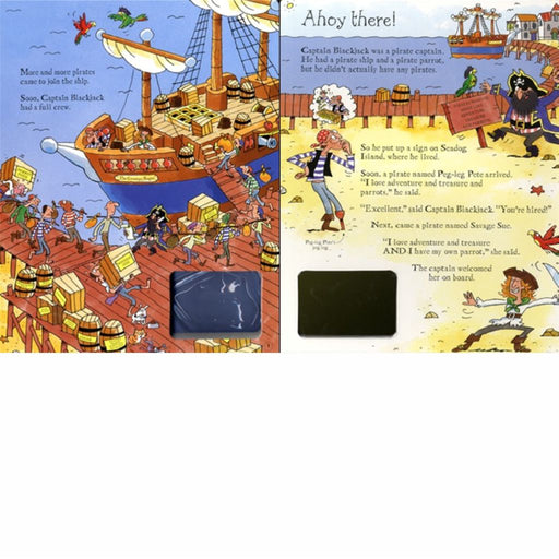 usborne wind up pirate ship book inside
