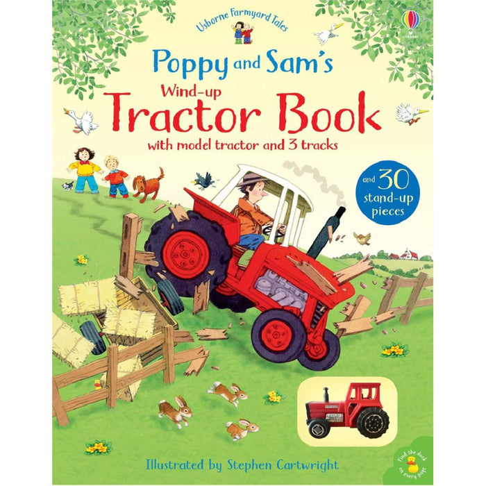 usborne wind up tractor book cover