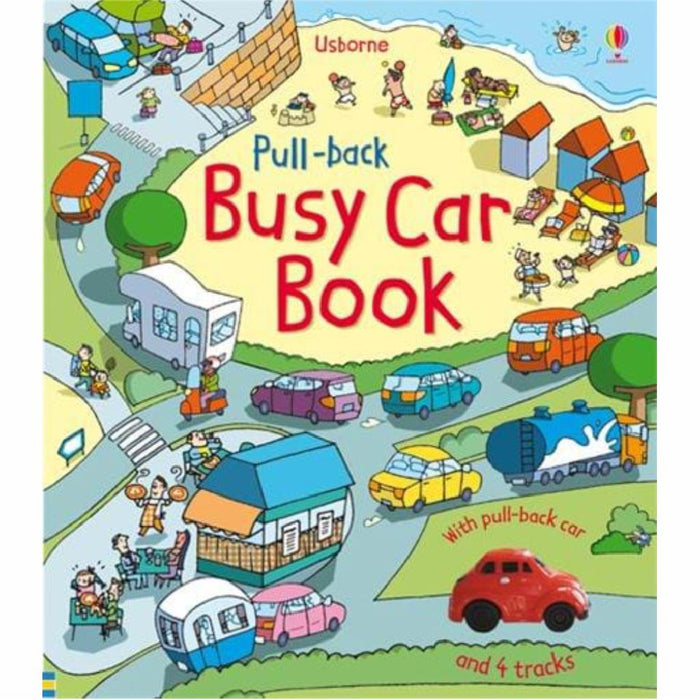 usborne pull back busy car book cover