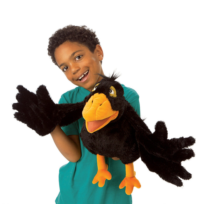 Yellow Beaked Crow Puppet